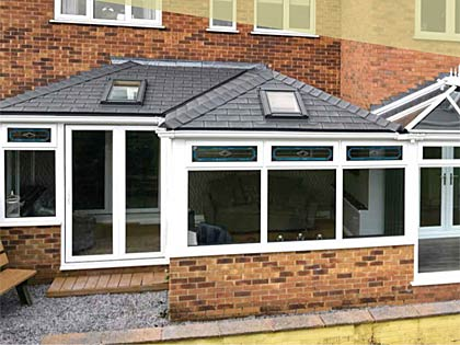 Example of a Stoner conservatory tiled roof